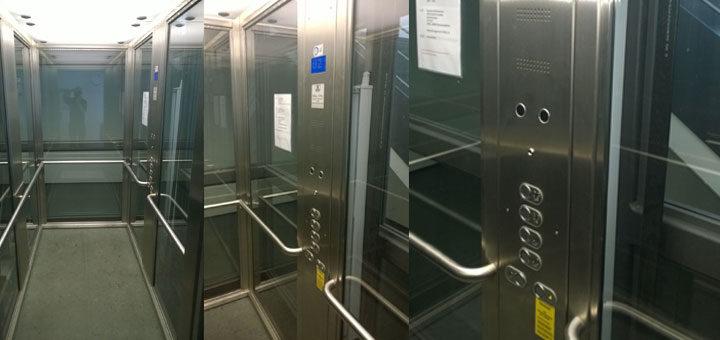 Anlagebau Glasaufzug / Personenaufzug im SWR in Baden-Baden