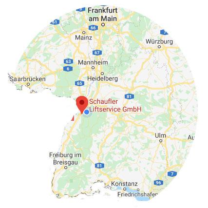 Aufzugbau Modernisierung Wartung und Reparatur in Baden-Würtemberg und Radius (Standort Baden-Baden) von 150 km