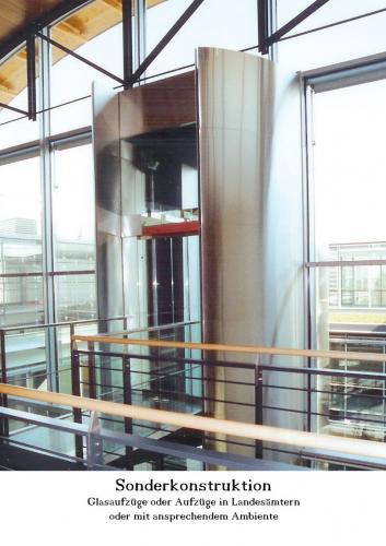 Aufzug Sonderkonstruktion Landesamt Behörden
