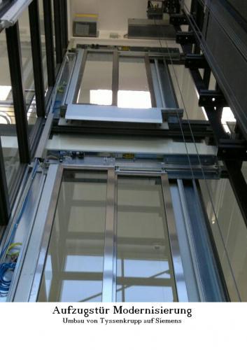 Aufzugtür Umbau von Tyssenkrupp auf Siemens